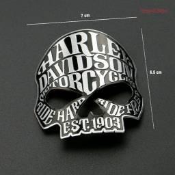 Adesivos 3D alumínio Skull 105 yeais Harley Davidson