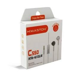 Título do anúncio: Fone de ouvido sem borracha P2 Hmaston C550