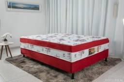 Título do anúncio: Cama Box Casal Ortopédica Nosso Sonho Vermelho 138×188 - Oferta especial só hoje