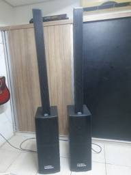 """Caixas de Kit Ativo (Line 9x 3"""" + Sub 2x 8"""") 4 Caixas P.A. Compacto VL 1500w Easylink"""