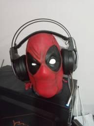 Cabeça deadpool suporte para  headset
