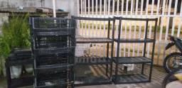 Vendo cesta e estantes