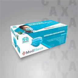 Título do anúncio: Máscara descartável caixa com 50 unidades
