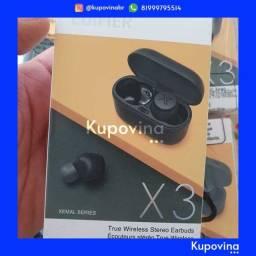 Fone de Ouvido Bluetooth 5.0 Edifier TWS X3 + Original + Garantia