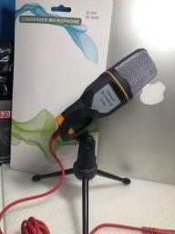 Título do anúncio: Microfone  condensador  com tripé  p2