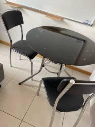 Conjunto Mesa Redonda Moderna C/ 2 Cadeiras