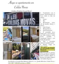 Alugo apartamento padrão no condomínio Golden Dolphin Grand Hotel - Caldas Novas