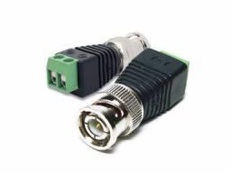 Título do anúncio: Conector/adaptador BNC Macho com borne (P/ CFTV)