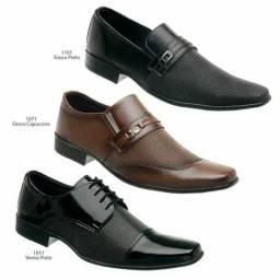 Kit 3 pares de sapato social italiano