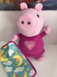 Pepa Pig, original com o cobertorzinho, canta e fala