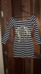 Vestido Listrado curto