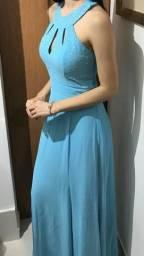 Vestido de Festa Azul Tiffani