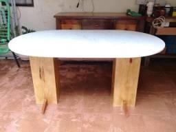 Mesa de granito e madeira - parcelo no cartão! - Dourados MS