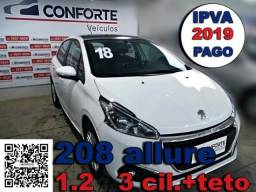 Peugeot 208 2018 1.2 allure 12v flex 4p manual - 2018