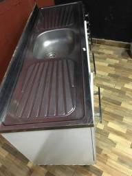 Pia de cozinha inox