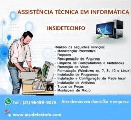 Assistência Técnica Em Informática|vai a domicilio e empresa Tel (21) 964999079