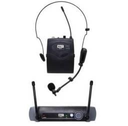 Microfone Uhf Sem Fio Headset Lapela Mxt Palestra Auricular Novo