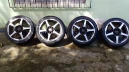 Rodão aro 17 universais com pneus