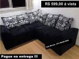 Sofa 5 Lugares de Canto # Pronta Entrega # 21 96426-5604