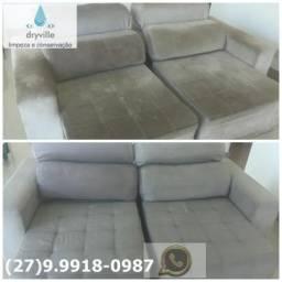 Lavagem, higienização do seu sofá a seco(Dryville)cobrimos seu orçamento com qualidade