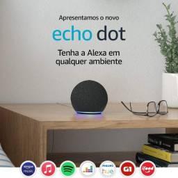 Echo Dot 4a geração Smart Speaker com Alexa - Cor Preta lacrado
