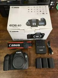 Camera Canon EOS 6D Mark I, Inteira, pra sair clicando