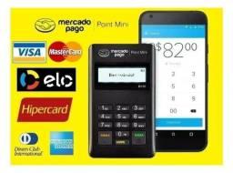 Máquina de cartão de crédito Mercado Pago + Adesivo das bandeiras - Nova