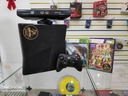 Anubis Games: XBOX 360 Slim com 2 jogos e kinect com 6 meses de garantia