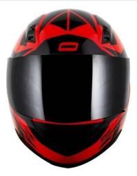 Capacete norisk ff391 preto e vermelho