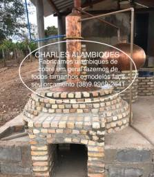 Alambique e pré aquecedor de cobre