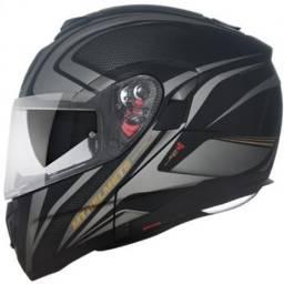 Capacete MT Atom SV Articulado Preto/Dourado Fosco - Mt helmets