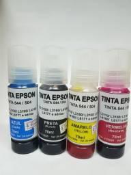 Tinta Impressora Epson com tanque(buk) unid,kit com 4 R$ 50,00.