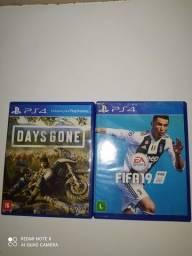 Título do anúncio: JOGO PARA PS4 : DAYS GONE E FIFA 19 FUNCIONANDO PERFEITAMENTE