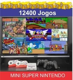 Mini Super nintendo 12400 jogos game retrô 35 videogames