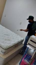 Título do anúncio: Higienização de colchão de casal na promoção em Boa Vista
