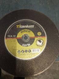 """Disco corte ferro 12"""" x 1/8 x 5/8 Titanium"""