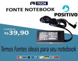 Fonte / carregador para notebook positivo - a pronta entrega - loja fisica