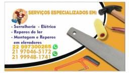 Título do anúncio: Elétrica Serralheria Reparos do lar Montagem e reparos em elevadores