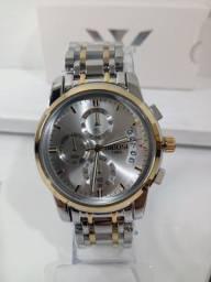 Título do anúncio: Relógio Nibosi 2353 - Pulseira em Aço - Prata