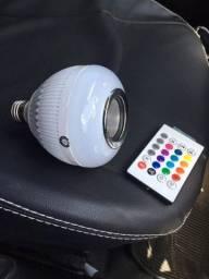 Título do anúncio: Lampada Bluetooth De Led Caixa De Som C Controle 12w Rgb led
