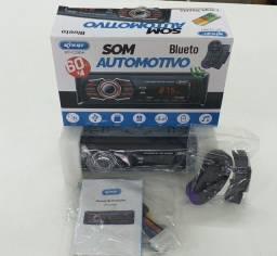 Som automotivo Bluetooth entrada usb rádio entrada auxiliar sd controle volante