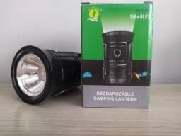 Lampião e Lanterna Recarregável à energia solar ou na tomada
