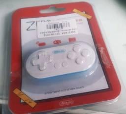 Título do anúncio: Mini controle 8bitdo Zero (cor azul e branco)