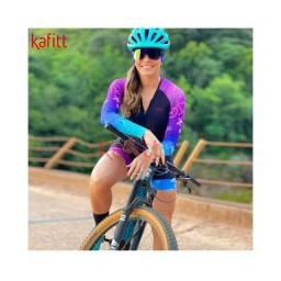 Título do anúncio: Macaquinho Ciclismo Kafitt M e G Novo