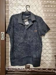 Título do anúncio: Camisa polo estampa florida