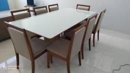 Título do anúncio: Mesa oito de madeira e acabamento laka luxo