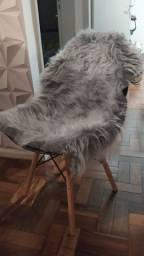 Manta pelúcia para cadeira