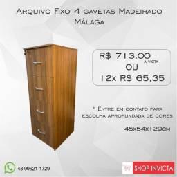 Armário Arquivo para Escritório 15mm Málaga / Novo / NFE