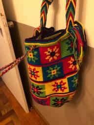 Bolsa colombiana - artesanato indígena. Perfeito estado!