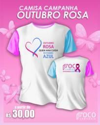 Título do anúncio: Camisa campanha Outubro Rosa e Novembro Azul
